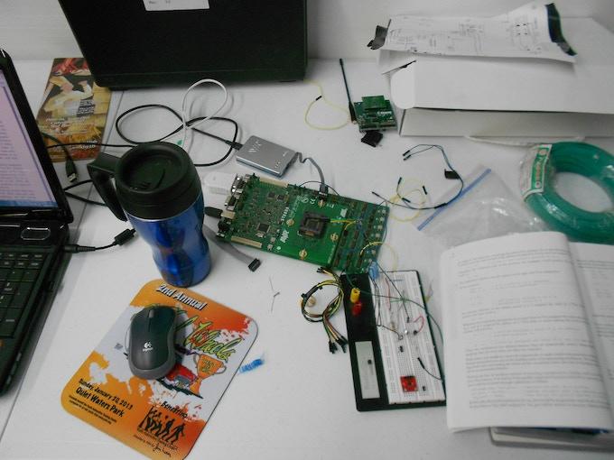 Nick's desk!