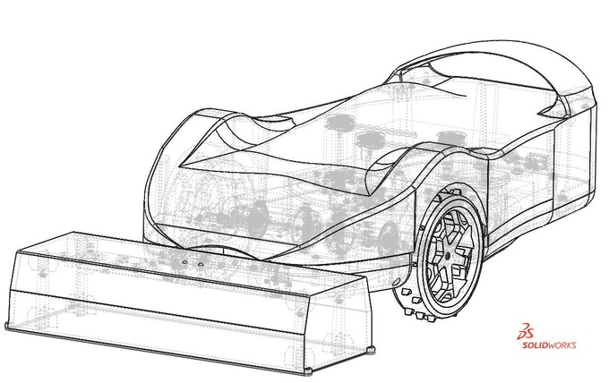 New SmartMow CAD (Wireframe view) in SolidWorks