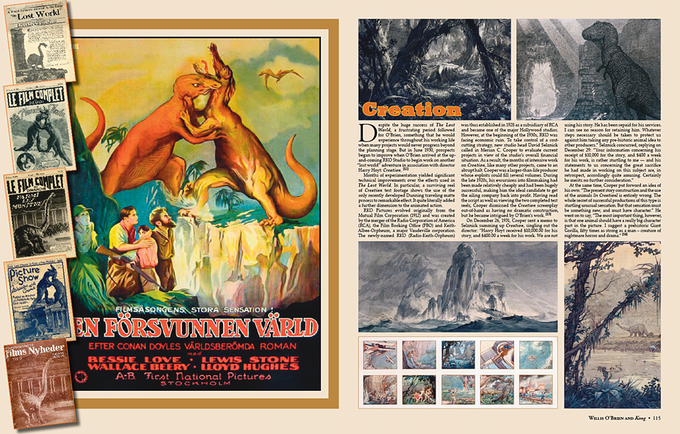 """The influence of Willis O'Brien and his pioneering stop motion work was a huge influence on young Ray, including """"The Lost World"""" and """"Creation."""" This chapter (90 pages!) also includes extensive coverage of O'Brien's masterpiece, """"King Kong."""""""