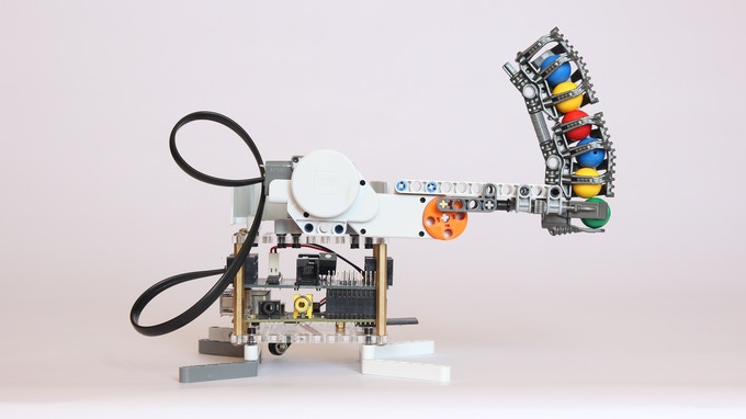 BrickPi as a Ball Cannon