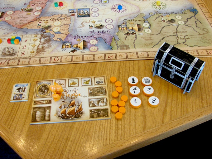 Initial set up for the orange Privateer--the Pasha!