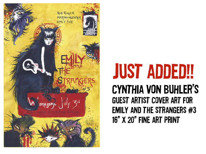 """$150 REWARD: Cynthia von Buhler's guest artist cover art for """"Emily and the Strangers #3"""" 16"""" x 20"""" fine art giclee print"""