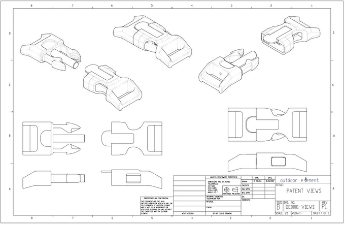 Production Concept and Patent Drawing Views
