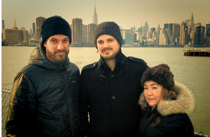 Producer Andy Mininger, Director Mark Evans and Producer Michelle Quisenberry shooting in New York.