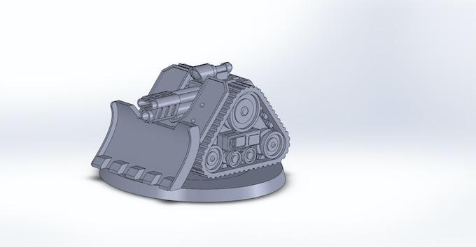 Tracked platform CAD