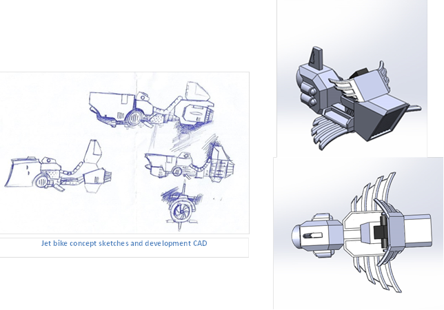 The fabled Jet Bike Development....