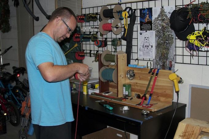 JP making survival cord prototype