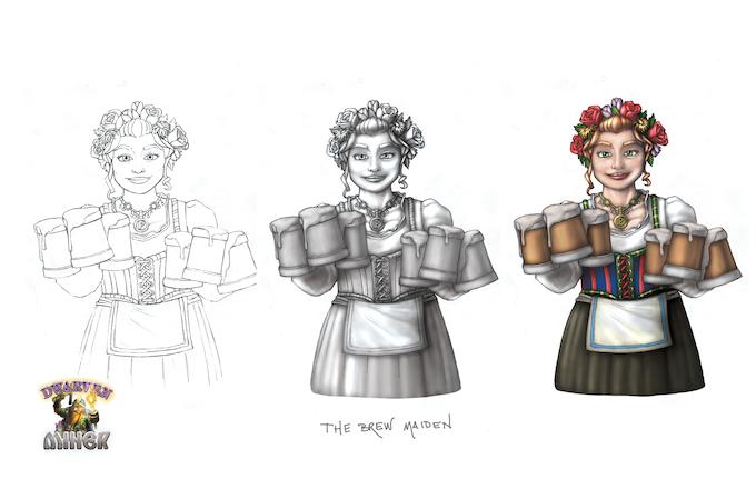 """The """"Brew Maiden"""" Progression Print"""
