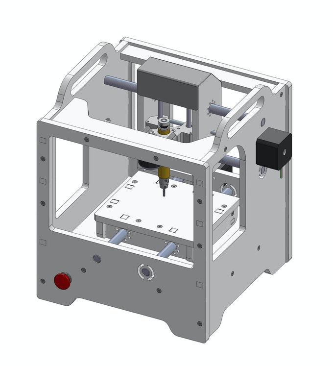 A CAD model of our pre-production Othermill design.
