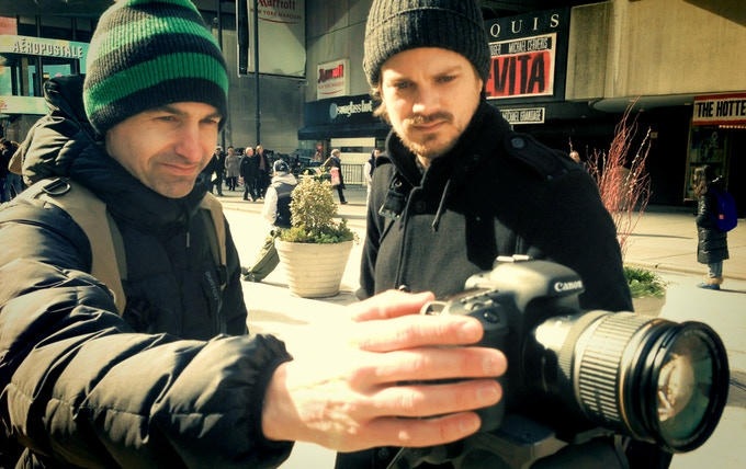 Director of Photography Tadd Sackville-West and Director Mark Evans