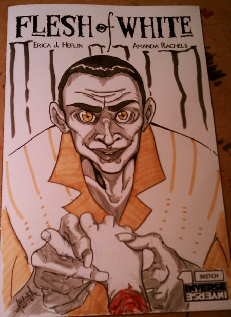 A Sketch Cover from Flesh of White #1 - The Witch Doctor by Amanda Rachels - Get YOURS at the $40 Reward Tier!