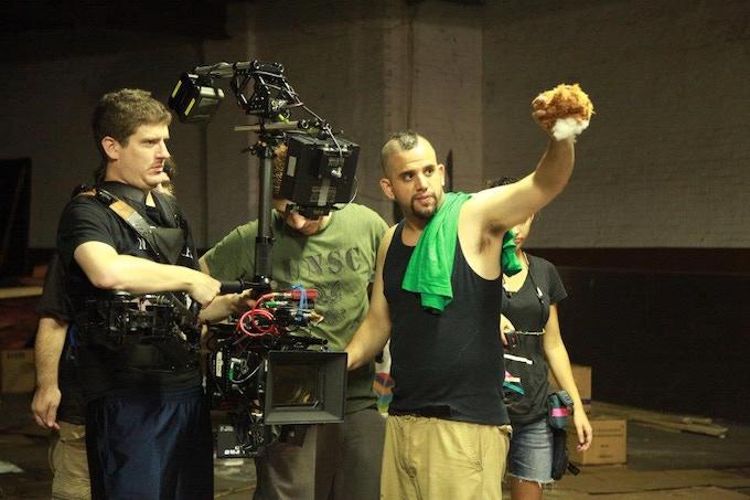 Director/Cinematographer Dominick Sivilli on set for the trailer shoot