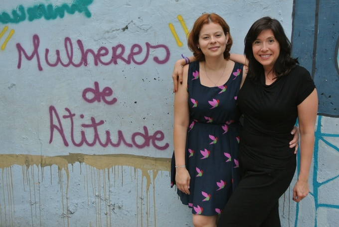 Veronica & Heather on location in Rio