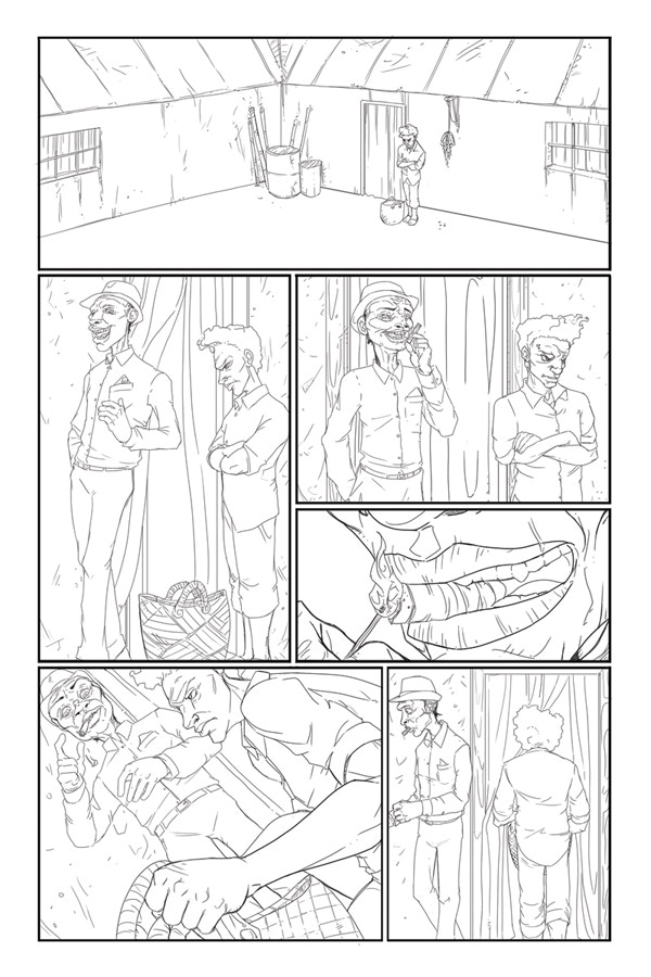 Penciled Page 4 of Flesh of White #2!