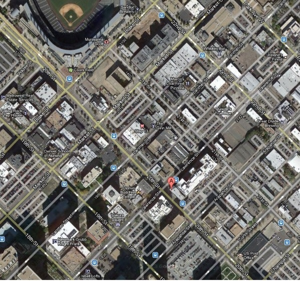 We will be located in downtown Denver, just three blocks from Coors Field