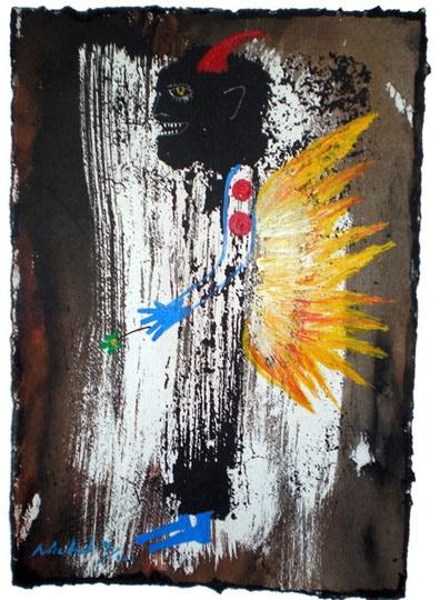 Dark Firecracker, final original gum study painting