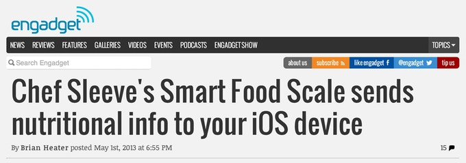 Thanks, Engadget for this sweet little treat on your homepage the day we launched.