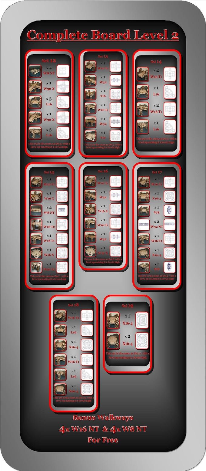 All 8 Sets + Level up on all sets in 1 mega bundle on 2 levels