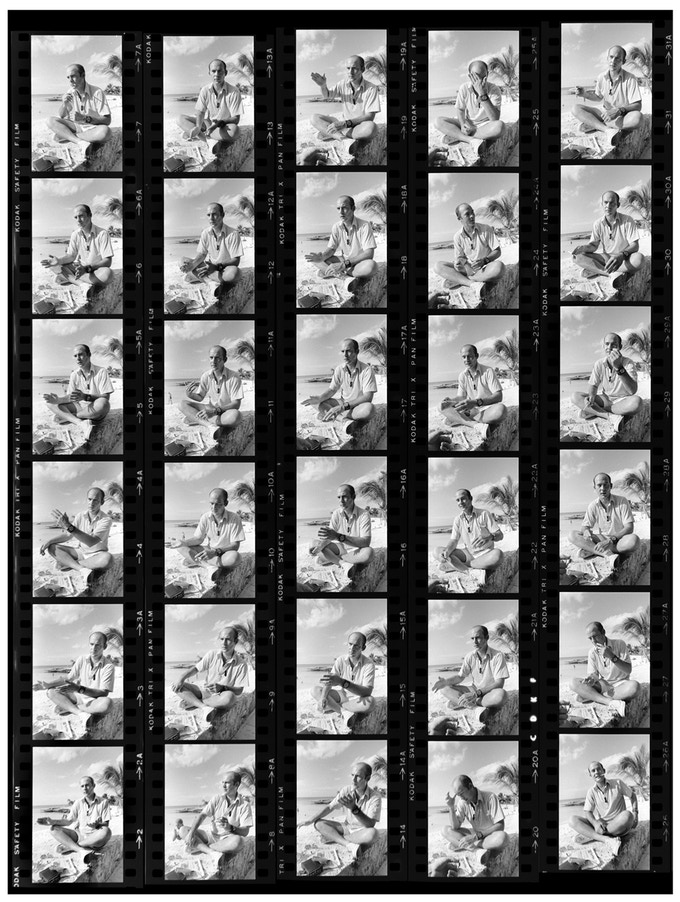 a contact sheet from a roll of Tri-X