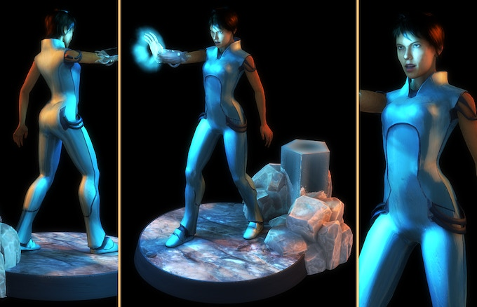 Concept rendering of the Eve hand-painted figurine ($500 and up reward)
