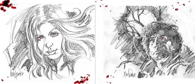 Amber Benson and Neil Gaiman by Tom Mandrake