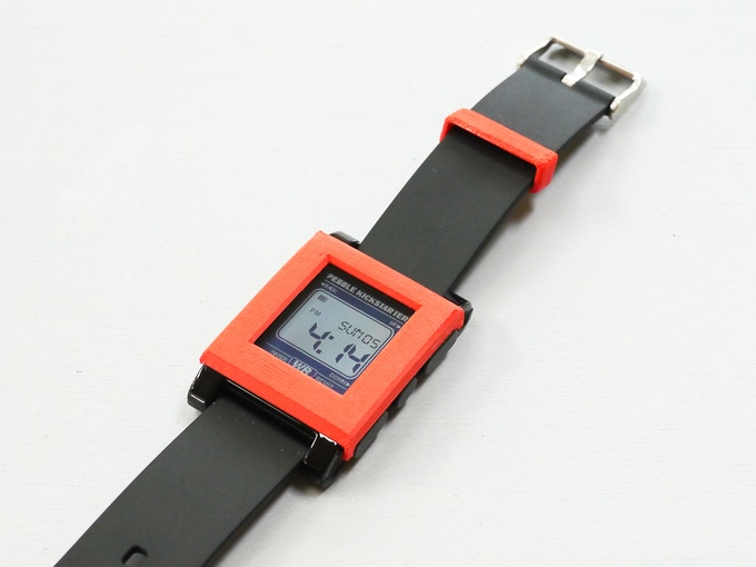 Red Bevel Design with matching Watch Band Loop