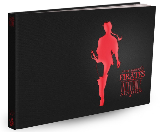 Mock-up of the case, without jacket, showing spine.