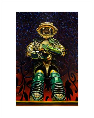 """""""Serpentor"""" 16""""x20"""" limited edition giclée print"""