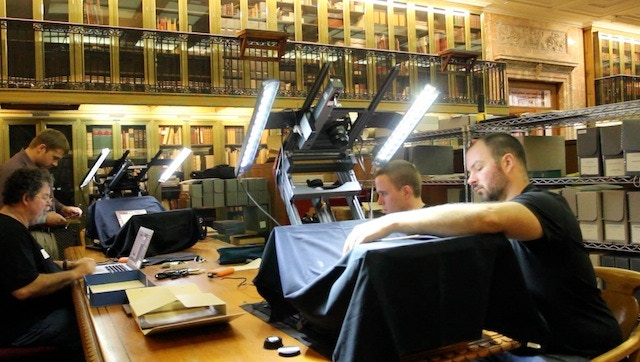 Dr. Wallace, on left, with team preserving ancient New Testament manuscripts.