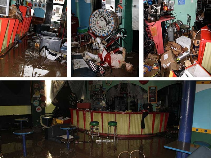 The museum and performance space - our source of income - were destroyed by Sandy.