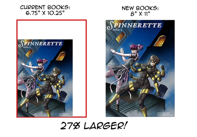 Spinnerette Volume 3 is significantly larger!
