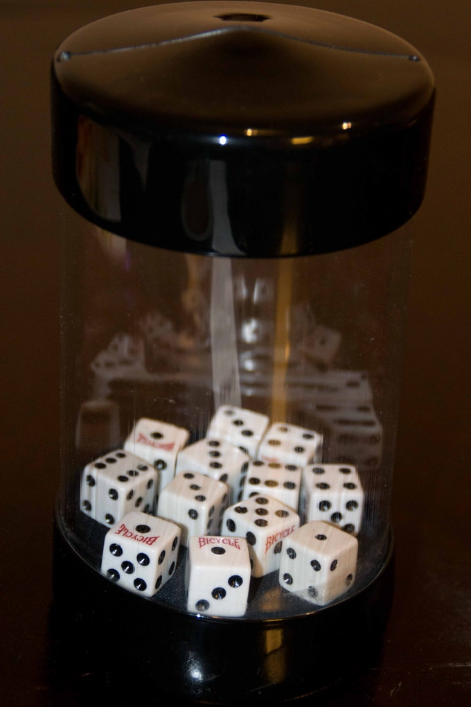 Holds 12 dice (16mm) as seen here