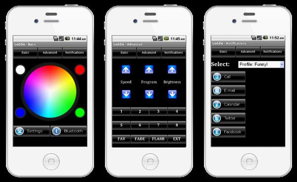 Application Screenshots - BETA version. COLOR CHANGE - PROGRAM CHANGE-NOTIFICATIONS SETUP