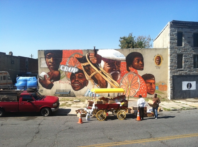 First mural produced by Gaia last fall