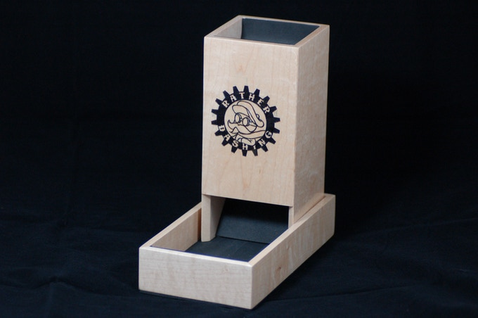 Hand made Maple Dice Tower by Scot Palenshus