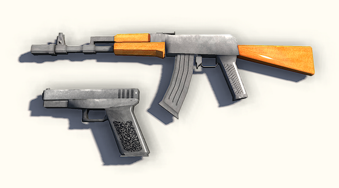 Textured AK and Glock
