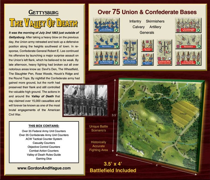 Shared Board Cause To Pause: Gettysburg: The Valley Of Death Board Game By Gordon