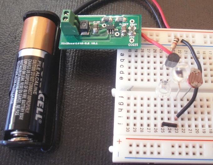 Boost NiteLite Prototype, Functional Ready for PCB Design