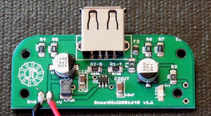 BoostMiniUSB - Built for 5 Volts Power & USB Plug