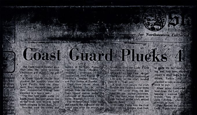 Front page, Times-Standard, December 25, 1972 (above the fold)