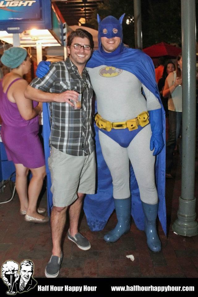 full body image of the older Batsuit.