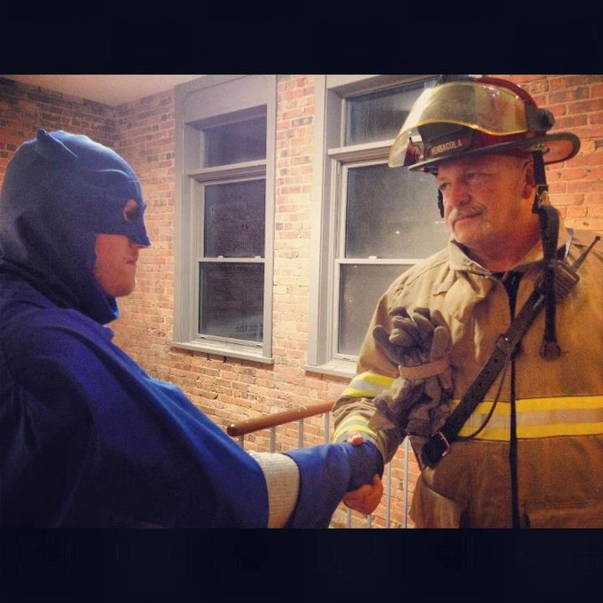 shaking hands with a real hero.