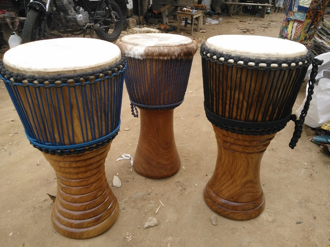 Finished drums in Accra, Ghana, ready to ship to The Beer Diviner