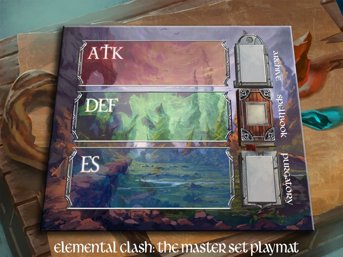 Elemental Clash Playmat / Game Board (Preview)