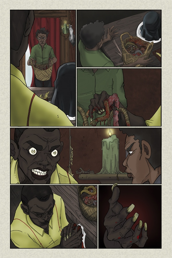 Fully Colored Page 5 of Flesh of White #2!