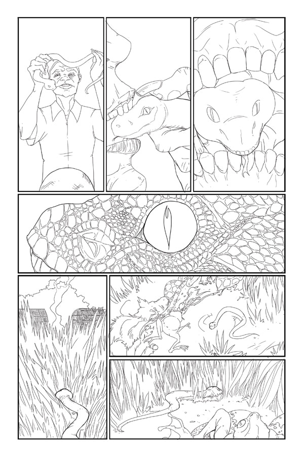 Penciled Page 7 of Flesh of White #2!