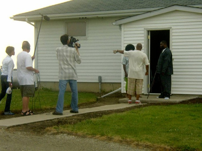 """On the set of """"The Last Straw"""""""