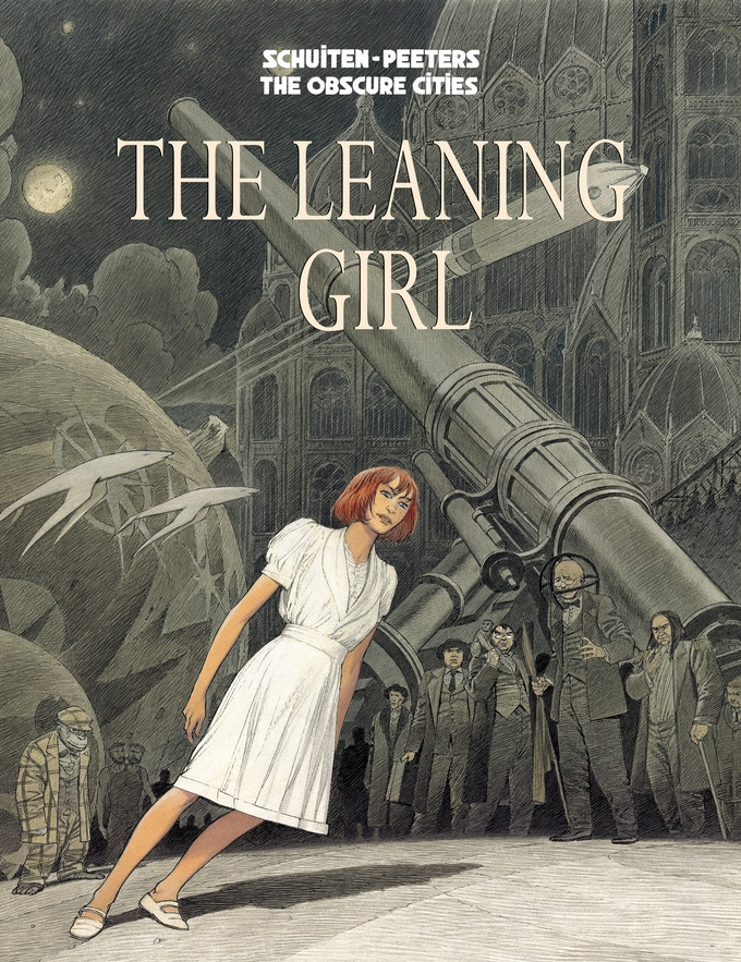Cover-in-progress for THE LEANING GIRL graphic novel