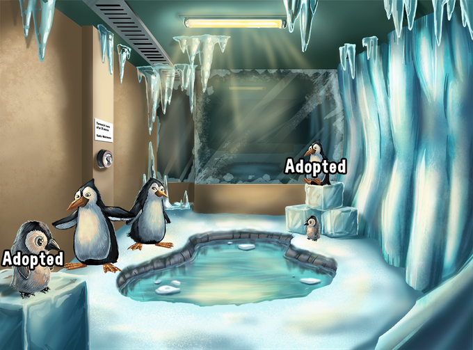 2 Adult Penguins and 1 Baby Penguin available