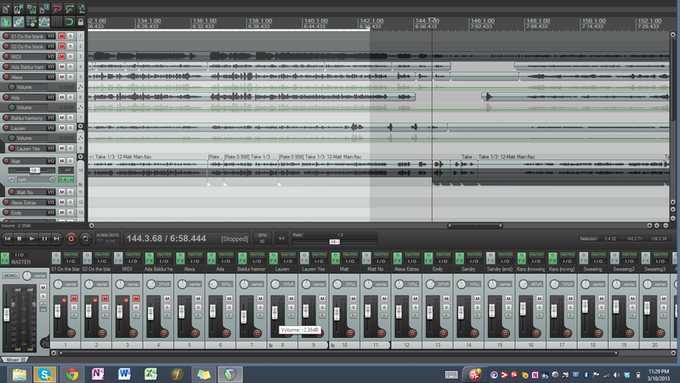 An example of what audio editing looks like.